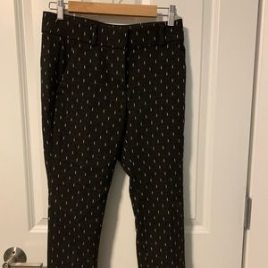 Cropped loft black pants with whit accents